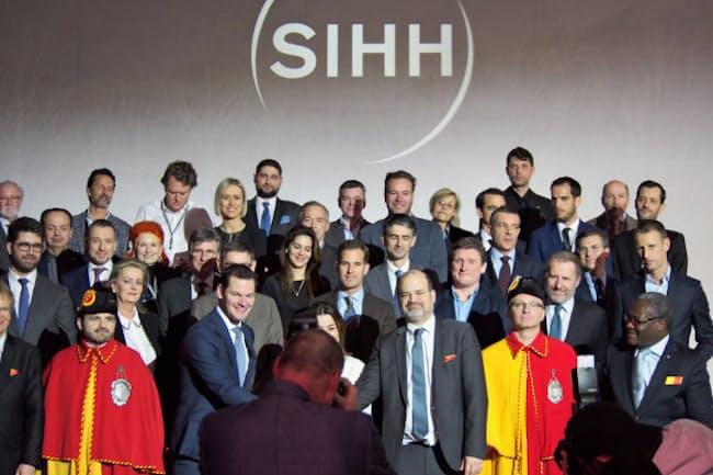 ジュネーブサロン(SIHH)の主催者や出展企業幹部ら