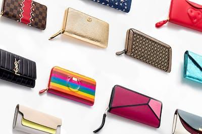ラウンドジップやフラップタイプなど、同じ長財布でも仕様はさまざま。お気に入りはどれ?(NikkeiLUXEより)