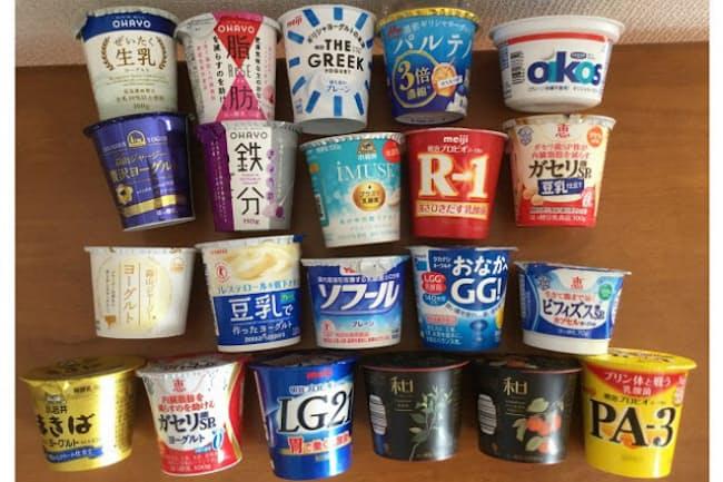 食べきりサイズのカップヨーグルト21種類を食べ比べ