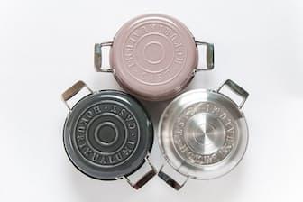 こびりつかない、軽量の最新無水鍋、北陸アルミ「HAMONホーロー鍋」(2万円、以下価格はすべて税別)