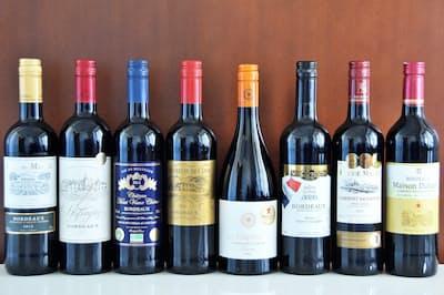 大手コンビニ店舗チェーンで購入して試飲したフランス産赤ワイン8種