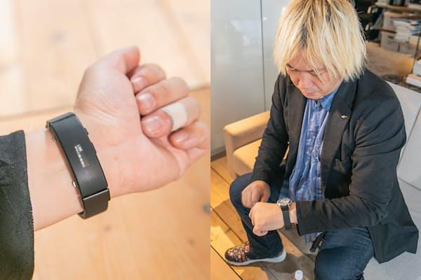 時計バンドにスマートウォッチの機能を搭載したwenaを津田大介氏が試用した