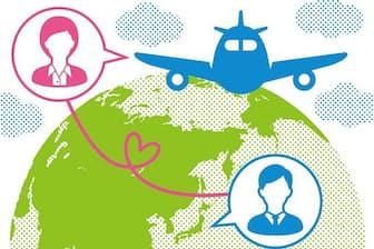 超遠距離からの婚活&成婚は、どのように成功したのでしょうか(イラスト/田中小百合)