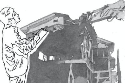 住人が長期不在の空き家は防災や景観など様々な問題を発生させやすい イラスト・よしおか じゅんいち