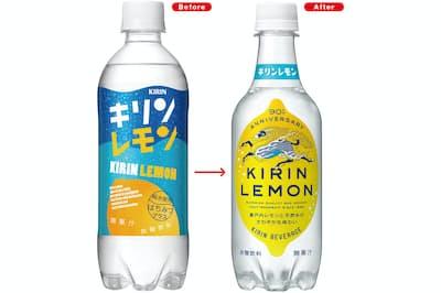 リニューアルしたキリンレモンが絶好調だ。高校生と共同開発した前のパッケージは、ブルーとイエローでボトル全体を覆うポップなデザインだった