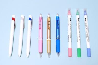 機能性を高めたペンが増えている
