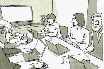 高い成果・付加価値を創出できるマネジメントこそが求められる イラスト・よしおか じゅんいち