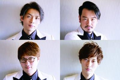 メンバーは白川裕二郎(左上)、小田井涼平(右上)、酒井一圭(左下)、後上翔太(右下)(写真:中村嘉昭)