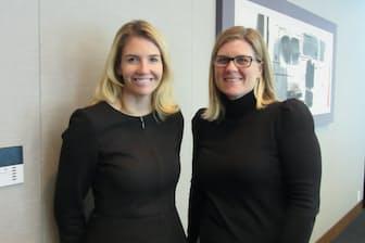 スタフォード(左)とストールの両氏は「女性投資家を開拓するには男性とは異なるアプローチが大切」と話す