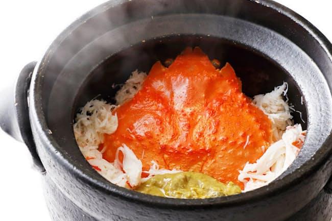 「うぶか」の「松葉蟹 炊き込み」