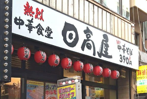 西川口西口店はいまも同じ場所で「日高屋」に名前を変えて営業している