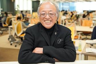 「新たな文化は柔らかな感性から誕生する」と語るマンダムの西村元延社長(東京・日本橋オフィスで)