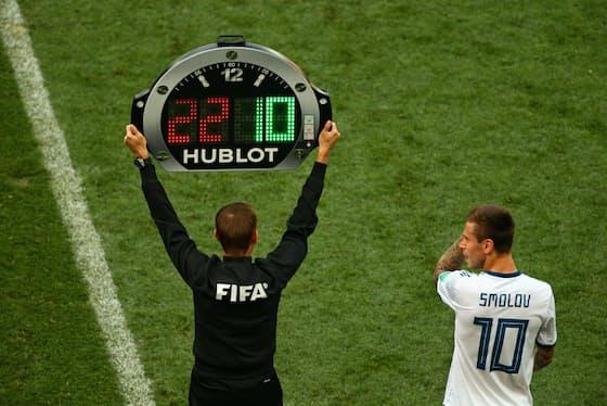 ウブロはサッカーW杯で知名度を上げた(2018年のロシア大会)