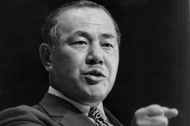 田中角栄元首相。若い世代にも天才政治家とのイメージが広がる