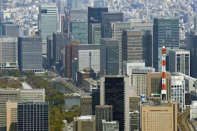 東京都心ではビルの空室率が極めて低くなっている
