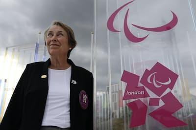 グットマン博士の娘、エバさんはロンドン大会で選手村の村長を務めた(2012年8月)=AP