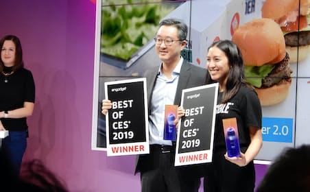 「ベストオブCES2019」を受賞したインポッシブルフーズのメンバー