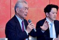 京都大学の本庶佑特別教授(左)の研究はがん治療薬「オプジーポ」につながった