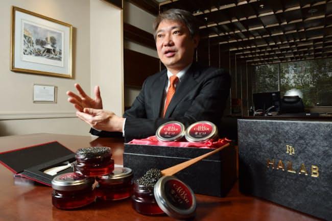 金子コードの金子智樹社長はキャビア事業を次なる収益の柱に位置づける