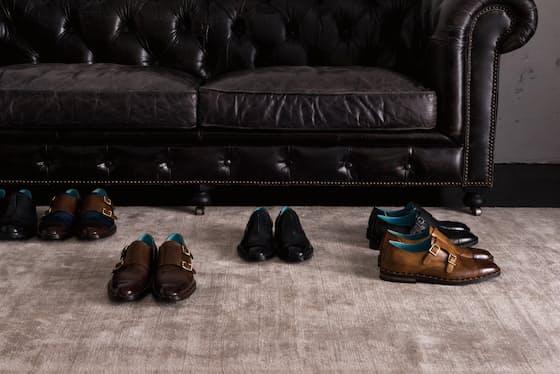 カジーナではストレートチップやダブルモンクストラップなどの高級注文靴をパターンオーダーできる