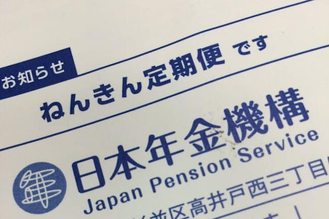 年金加入者の手元には年1回、ねんきん定期便が届く