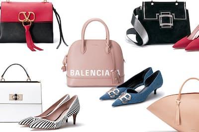 各ブランドの個性や魅力が存分に発揮された、靴とバッ?#25384;?#21218;揃い!(NikkeiLUXEより)