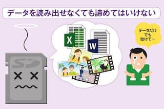 SDカード内のデータを誤って消したり、故障で認識不能になったりしても諦めるのは早い。認識できるなら、無料のファイル復元ソフトなどでデータを救える可能性がある