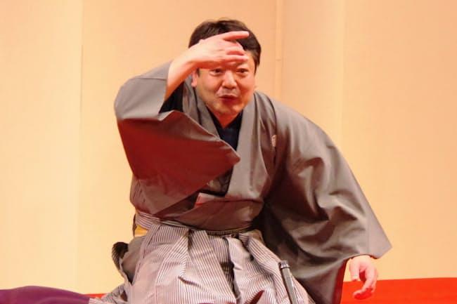 故立川談志師匠のもとで真打ちに昇進してから2020年で15年となる談笑さん(2019年4月、東京都武蔵野市)