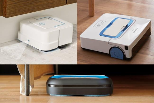 水拭きで床をきれいにするロボット掃除機を紹介する