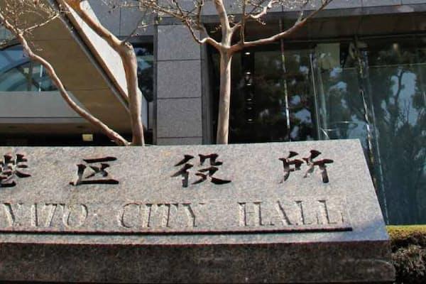 都道府県と市区町村が通常4対6の割合で税収を分け合う(東京都港区)