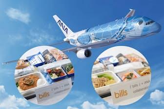 一新したANAハワイ便の機内食を紹介する。前編は人気店とコラボしたエコノミークラスの機内食だ