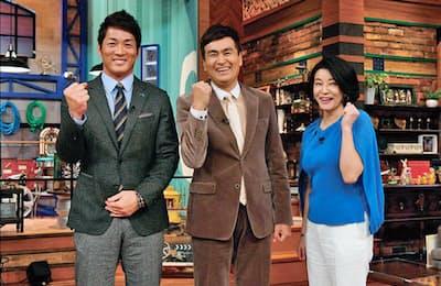 左からMCの長嶋一茂、石原良純、高嶋ちさ子(金曜20時57分/テレビ朝日系)