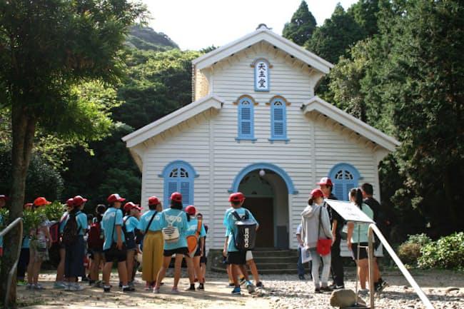 五島市には世界遺産の構成資産、江上天主堂などあるが、インバウンド誘致につながっていない