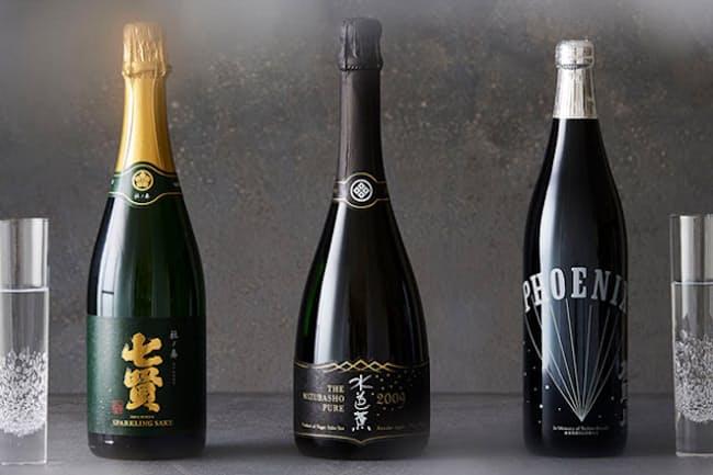 産地も味わいも多彩なスパークリング日本酒。それぞれにこめられたストーリーも興味深い。(NikkeiLUXEより)