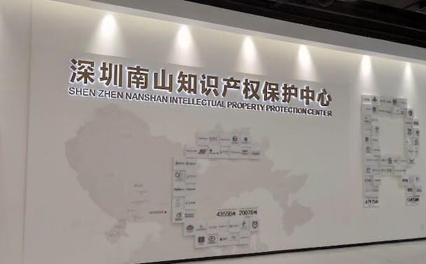 中国の国際特許申請数の過半数は深圳が占めており、なかでも南山区が突出している(深圳市南山区の知財保護センター)