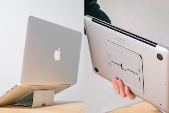津田大介氏がノートパソコンに取り付けられるPCスタンドを試用した