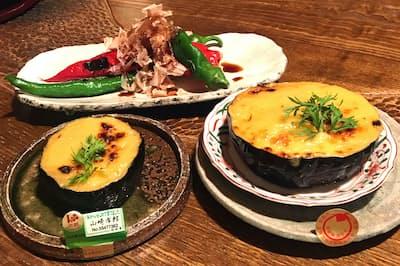 産地・農家の違う素材を食べ比べることができる(萬川)