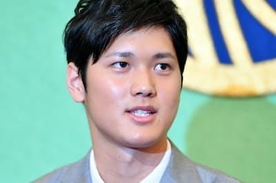 大リーグ挑戦を表明する大谷翔平選手(2017年11月)