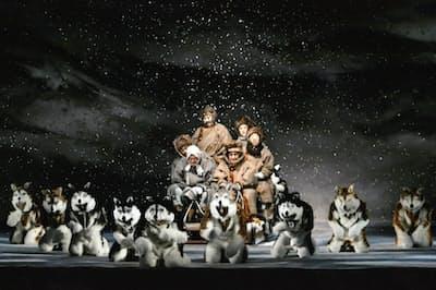 ロシアの雪原を犬ぞりで駆け抜ける(C)松竹