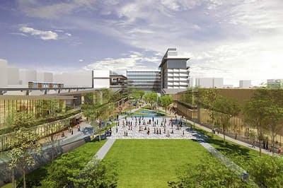 東京・立川駅の北側に2020年4月、「GREEN SPRINGS」という名の新街区がオープンする