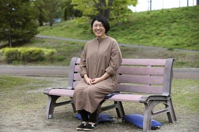大津広美は現在、仙台市障害者スポーツ協会に勤務する(同協会がある元気フィールドにて)