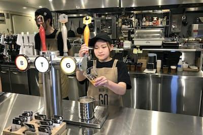 キリンビールは都内の銀座にあるクラフトビールの直営店でサブスクリプション(定額課金)サービスを始めた