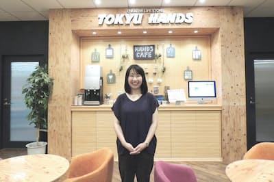 東急ハンズの末廣三知代さんはほとんどの売り場を経験した