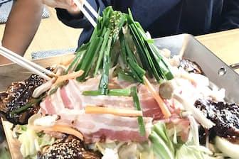 川森食堂の「関富士盛り」。インスタ映えを狙って考案した