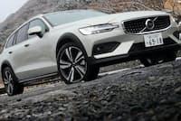 セダンの居住性をそのままに積載性を高め悪路も走ることができるボルボV60クロスカントリーT5 AWDプロ(4WD/8AT)=写真:荒川正幸、以下同