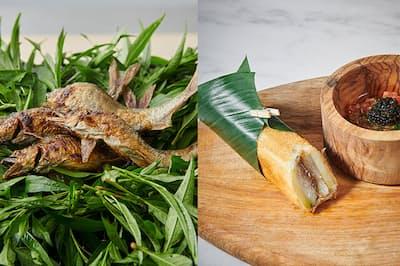 1日1組、4名まで限定の人気レストランが手がける鮎料理は、まさかの「タコス」!(NikkeiLUXEより)