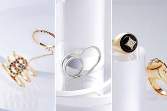 ルイ・ヴィトンの最新コレクション「B ブロッサム」など、モード界を牽引するブランドの新作ジュエリーも多数紹介。(NikkeiLUXEより)