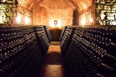 歴史を感じさせるグイド・ベルルッキの地下貯蔵庫