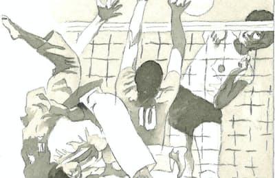 64年東京五輪を振り返り、新たなスポーツ文化を生み出さなければならない=イラスト・よしおか じゅんいち