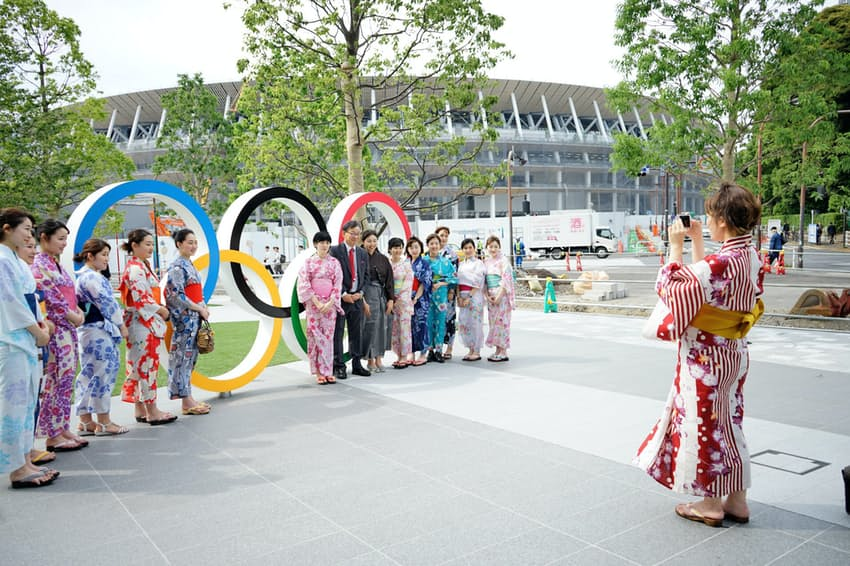 津田塾大学の学生は訪日客らに浴衣姿でのオリパラ観戦を呼びかける
